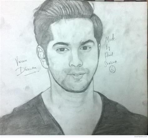pencil drawings from photos free pencil sketch of varun dhawan desipainters