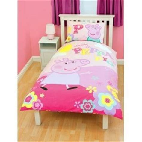 peppa pig twin bedding amazon com girls peppa pig duvet quilt cover bedding set