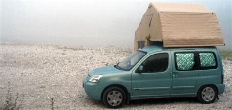 citroen berlingo awning small cers the citroen berlingo with a roof tent is merely one of the exles