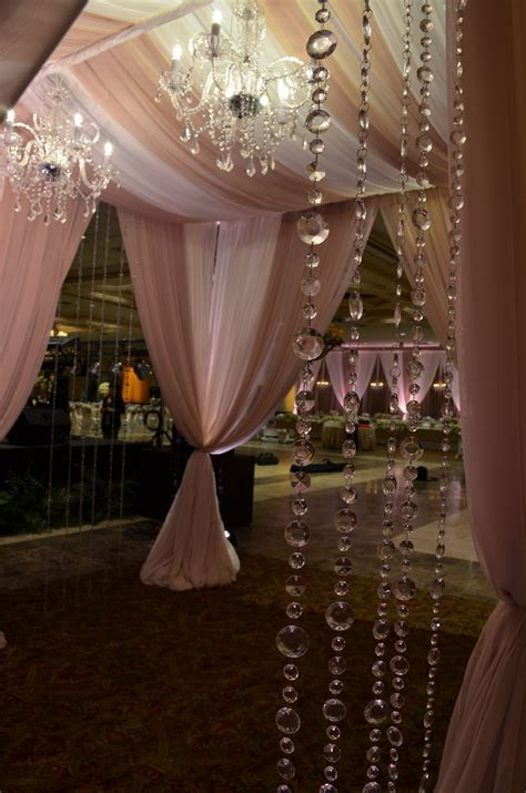 Grand Entrance Decor with Crystal garland and Crystal