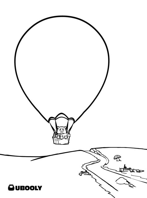 Blank Hot Air Balloon Coloring Pages Kids Coloring Page Air Coloring Pages
