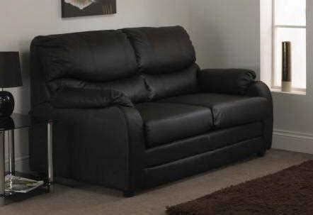 Black Faux Leather Sofa Bed Hessle Black Faux Leather Sofa Bed