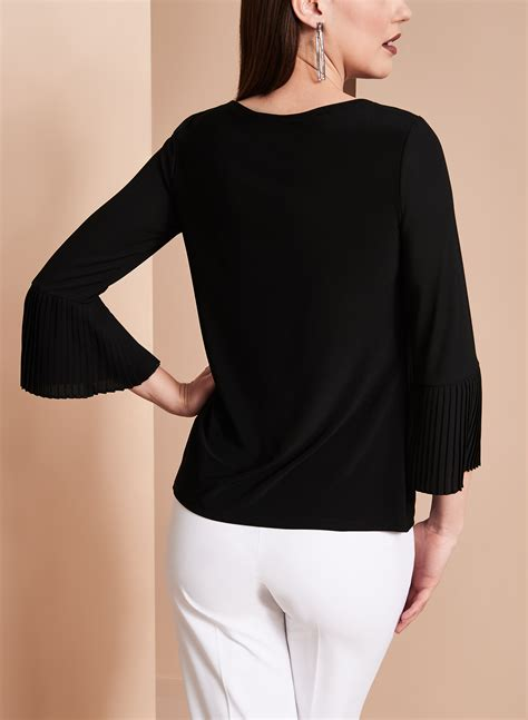 Pleated Sleeve Chiffon Blouse sleeve pleated chiffon blouse free shipping