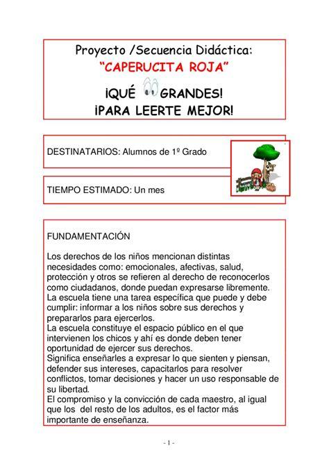 secuencia didactica caperucita roja 3 grado proyecto caperucita roja by amigos primero issuu
