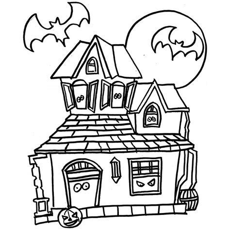 coloring page house preschool best halloween haunted house coloring pages womanmate com