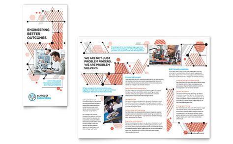 engineering brochure templates free computer engineering tri fold brochure template design