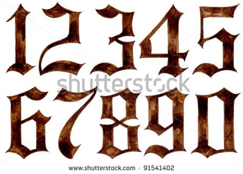 tattoo old english numbers tattoo fonts old english numbers pictures to pin on