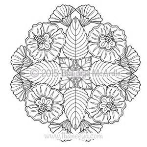 flower mandala coloring pages flower mandalas coloring book by thaneeya mcardle