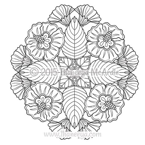 mandala coloring pages of flowers flower mandalas coloring book by thaneeya mcardle