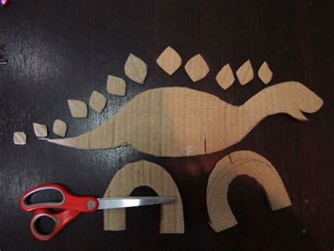 How To Make A 3d Dinosaur Out Of Paper - 寘 綷 綷