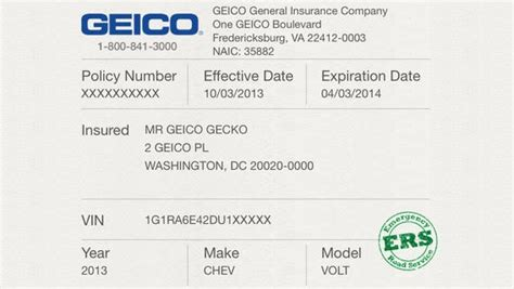 insurance card template free car insurance