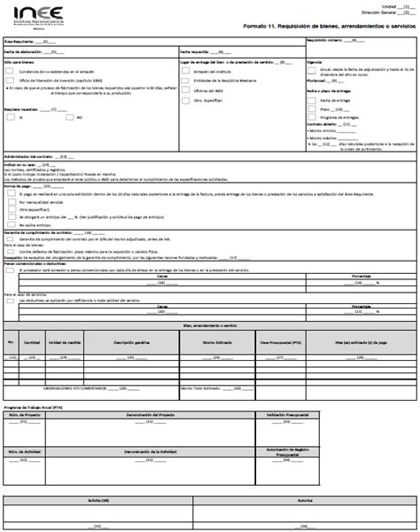 departamento de compra formatos de requisici 243 n y orden de formato de requisicion dof diario oficial de la federaci 243 n