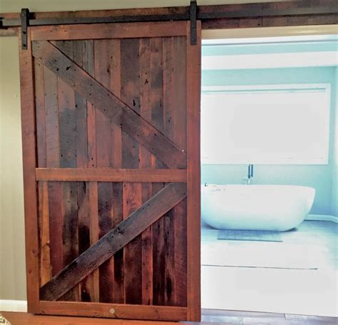 Reclaimed Wood Barn Doors Baltimore Md Sandtown Millworks Reclaimed Wood Barn Door