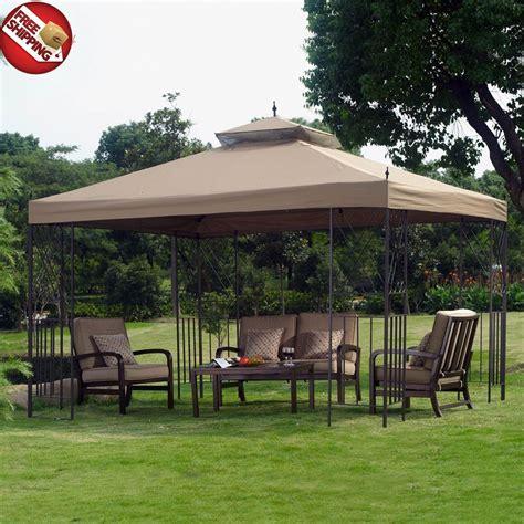 patio tent cover metal fabric gazebo canopy outdoor patio tent garden cover