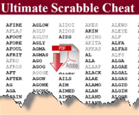 word cheats scrabble word newsletter members pages