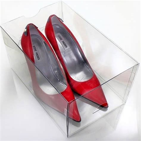3 x stacking high stiletto shoe drawers shoe boxes