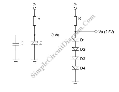 simple voltage regulator with zener diode zener diode voltage regulator simple circuit diagram