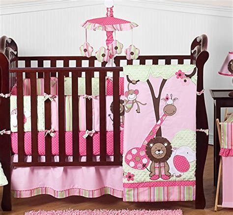 Animal Themed Crib Bedding Sweet Jojo Designs Pink And Green Jungle Safari Animal Themed Baby Bedding 9pc Crib Set