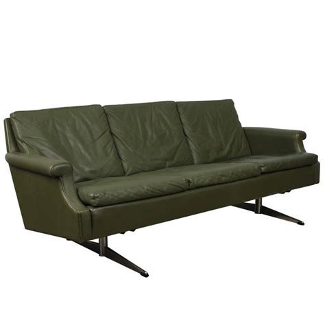metal sofa legs mid century modern leather sofa with metal legs for sale