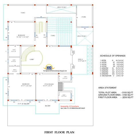 1st floor house plan india indian home design with plan 5100 sq ft home appliance