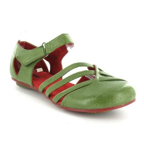 womens green flat shoes yoma 1268 2 womens flat leather ankle shoe green