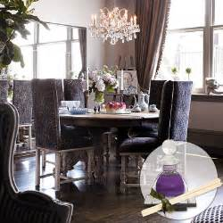 purple dining chairs eclectic dining room