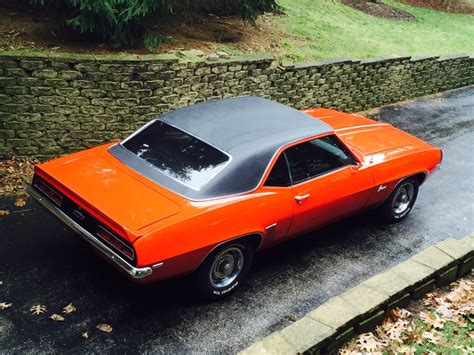 1969 chevrolet camaro new hugger orange paint x44 code from virginia with ac reliable