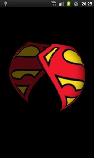 wallpaper android superman superman 3d logo wallpaper android informer the