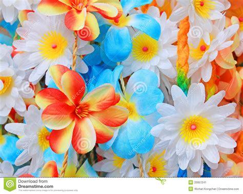 fiori colori bei colori dei fiori di plastica immagine stock