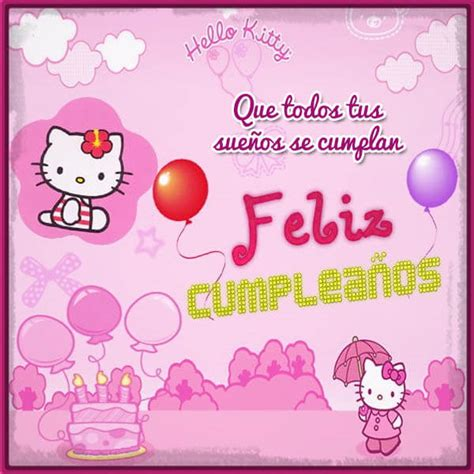 imagenes feliz cumpleaños hello kitty bellas imagenes de hello kitty de cumplea 241 os