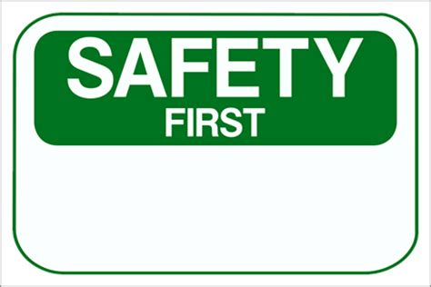 safety sign templates custom signs