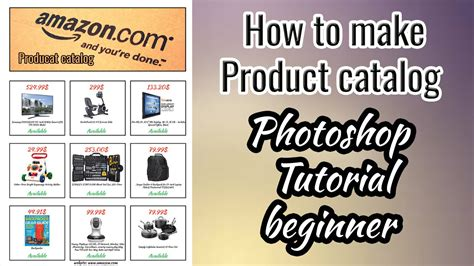 how to make a how to make product catalog photoshop tutorial beginner