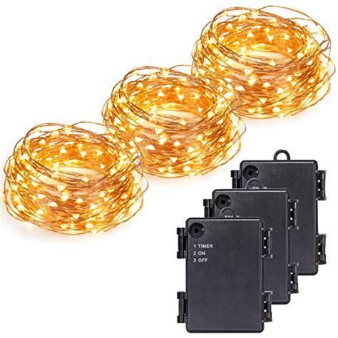 long skinny light bulbs kohree 100 micro leds string light battery powered on 33ft