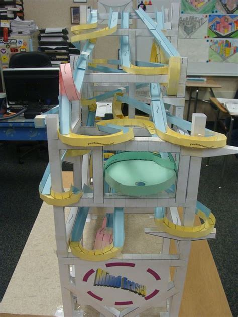 How To Make A Paper Roller Coaster Track - who can make the paper roller coaster click on the image