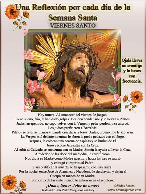 imagenes de reflexion por semana santa vidas santas una reflexi 243 n por cada d 237 a de la semana