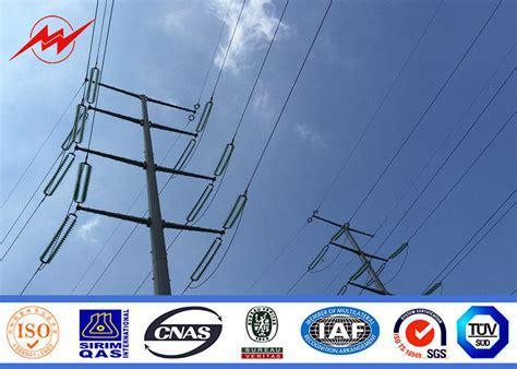 electric light pole galvanized steel transmission pole shockproof electric