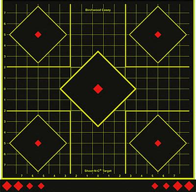 grid pattern target new 17 75 shoot n c grid target with five aim points