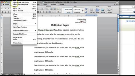 How To Make A Reflection Paper - how to write a reflection paper