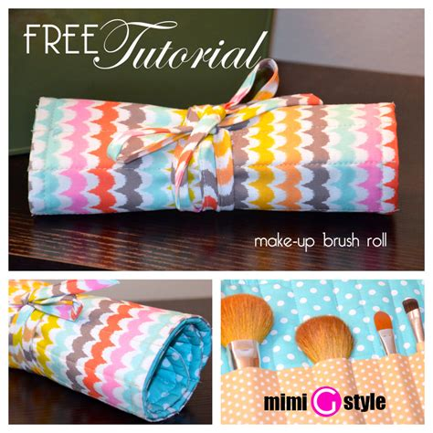 Pattern For Makeup Brush Roll | free make up brush roll up tutorial mimi g style