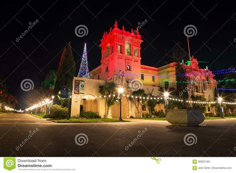 balboa park tree lighting 2017 christmas lights in balboa park editorial image image