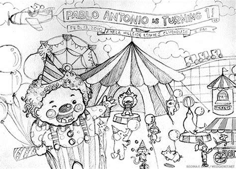 sketchbook recommendations circus invite sketch working sketch for a