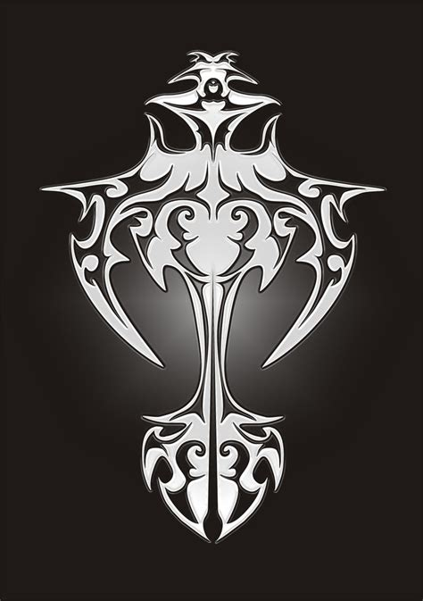 cross tattoo tribal background gordonfl goran deviantart