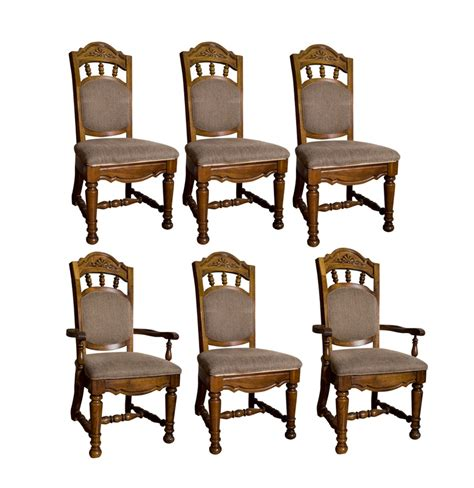 6 dining room chairs singer furniture dining room chair set of 6 ebth