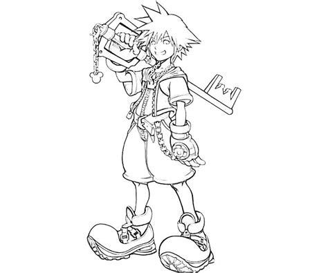 10 Sora Arts In Kingdom Hearts Yumiko Fujiwara Kingdom Hearts Coloring Page