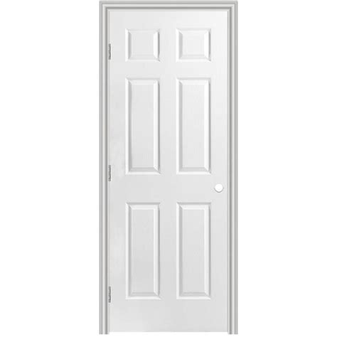 Shop Masonite Classics 6 Panel Single Prehung Interior Masonite Prehung Interior Doors