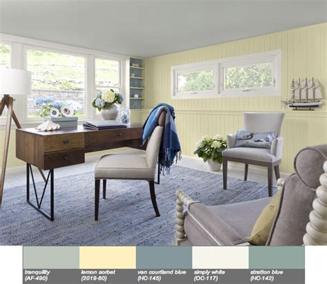 lemon sorbet is the 2013 benjamin color of the year at home with vallee