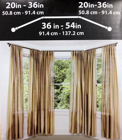 drapery hardware for bay window drapery rods