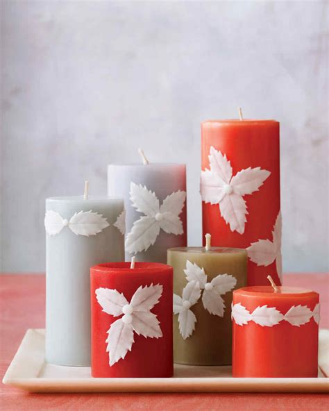 how to decorate candles at home easy holly candles martha stewart