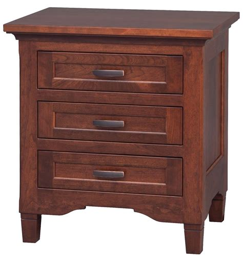 3 drawer bedside table kearny 3 drawer bedside table countryside amish furniture