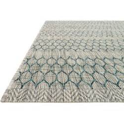 Teal Outdoor Rug Tulum Global Teal Grey Pattern Outdoor Rug 5 3x7 7 Kathy Kuo Home